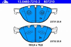 Тормозные колодки ATE с датчиком износа 13.0460-7210.2 34 11 6 770 575 1 шт.
