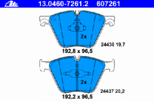Колодки BMW F01/F02/F03/F04 5.0 08=>