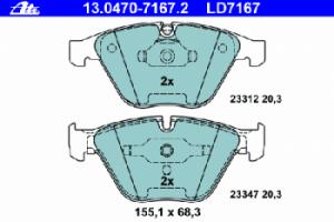 Тормозные колодки ATE CERAMIC 13.0470-7167.2 34 11 6 767 580 1 шт.