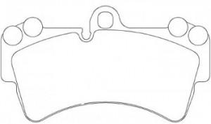 Колодки BREMBO для тормозной системы BREMBO P 85 065 95535193915 комплект 2 шт