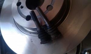 Замена тормозных дисков передних тойота