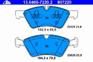 Тормозные колодки ATE 13.0460-7220.2 1644200820 комплект 2 шт