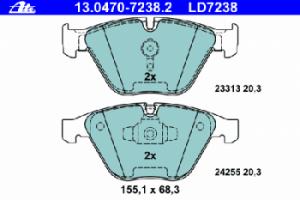 Тормозные колодки ATE CERAMIC 13.0470-7238.2 34 11 6 780 711 1 шт.