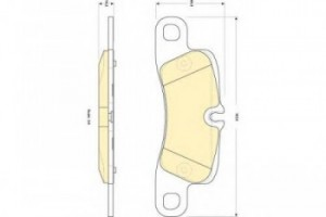 Колодки тормозные PORSCHE CAYENNE 4.5-4.8 (2EH) 06- передние
