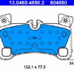 Задние колодки ATE 13.0460-4850.2 7L0 698 451 E комплект 2 шт