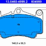 Передние колодки ATE 13.0460-4999.2 996 351 949 11 комплект 2 шт