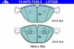 Тормозные колодки ATE CERAMIC 13.0470-7239.2 34 11 6 778 048 1 шт.