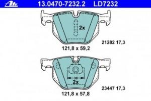 Задние колодки ATE CERAMIC 13.0470-7232.2 34 21 6 776 937 1 шт.
