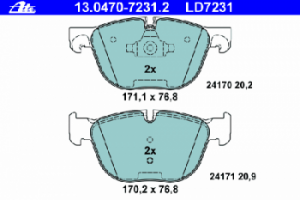 Тормозные колодки ATE CERAMIC 13.0470-7231.2 34 11 6 779 293 1 шт.