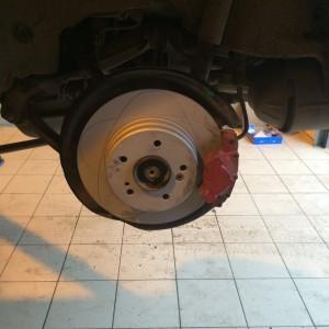 Замена тормозных дисков задних мерседес
