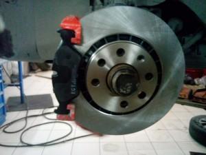 Замена тормозных дисков опель