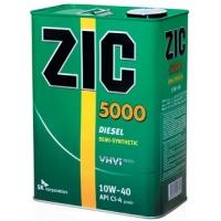 Полусинтетическое моторное масло ZIC 5000 Diesel 10W-40 4л